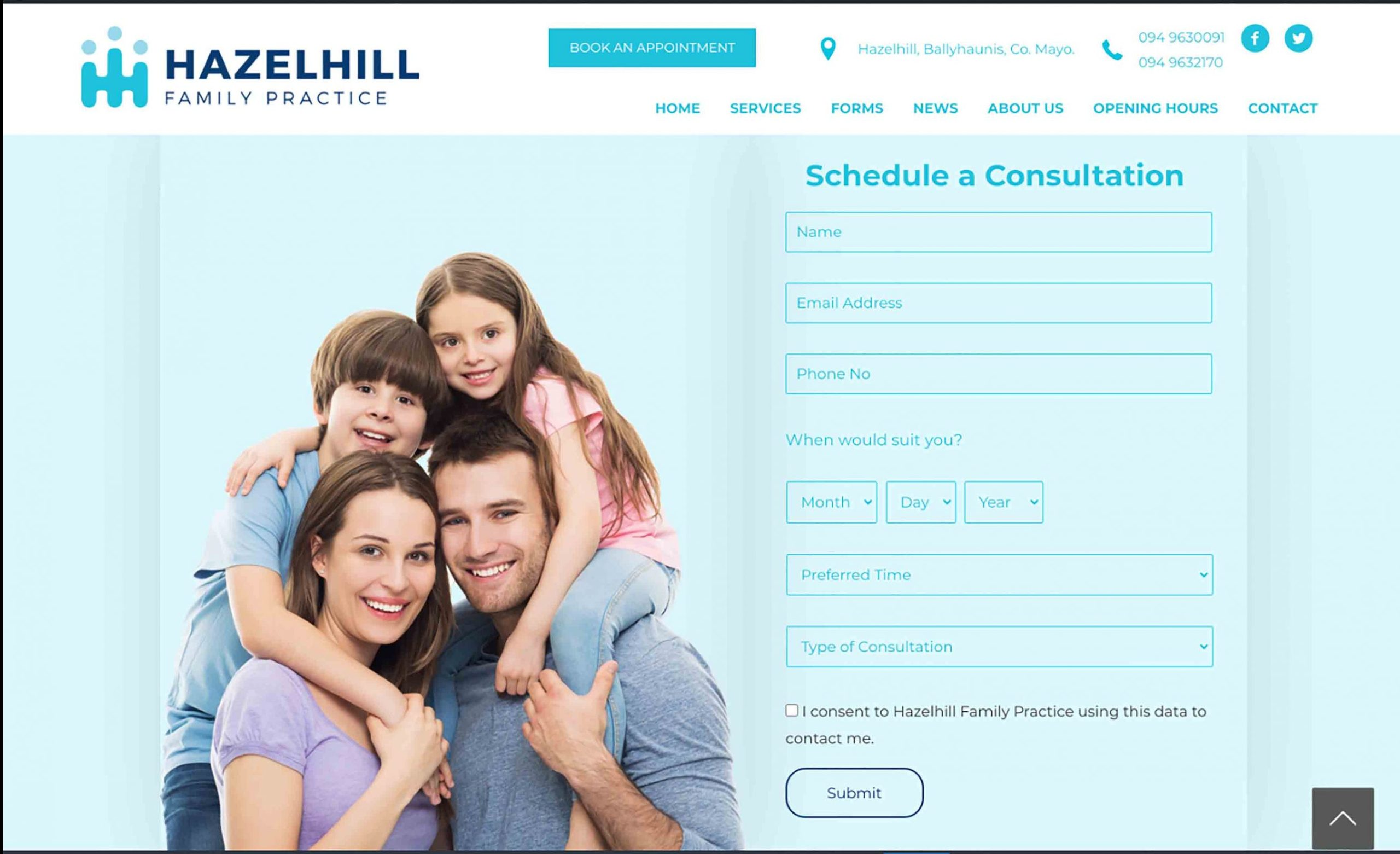 Book an Appointment with Hazelhill Family Practice, GP and Doctor in Ballyhaunis, Co. Mayo