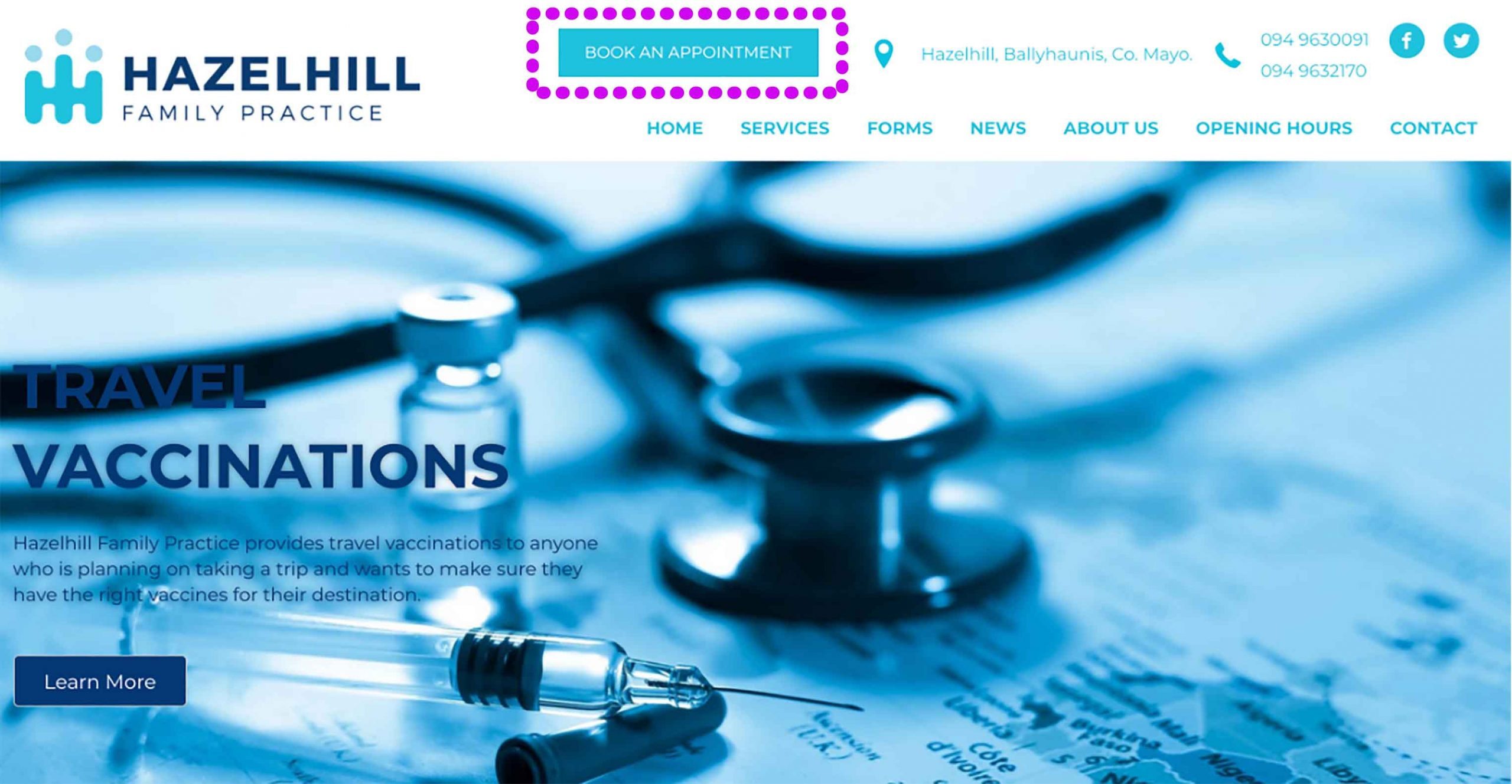 Booking an appointment with Hazelhill Family Practice